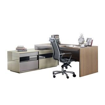 ชุดโต๊ะทำงาน ขนาด 180x160 ซม. รุ่น Adrian-01