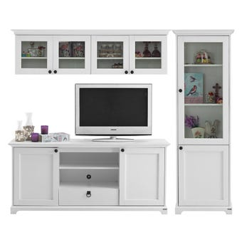 ชุดวางทีวีและตู้โชว์ ขนาด 220 ซม. รุ่น Melona