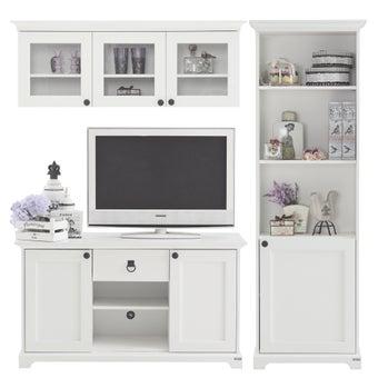 ชุดวางทีวีและตู้โชว์ ขนาด 180 ซม. รุ่น Melona สีขาว