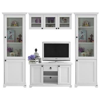ชุดวางทีวีและตู้โชว์ ขนาด 240 ซม. รุ่น Melona สีขาว-00