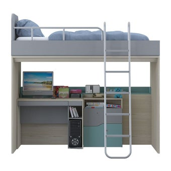 ชุดห้องนอนเด็ก ชุดห้องนอนขนาด 3.5 ฟุต รุ่น Kidzio สีสีโอ๊คอ่อน-SB Design Square