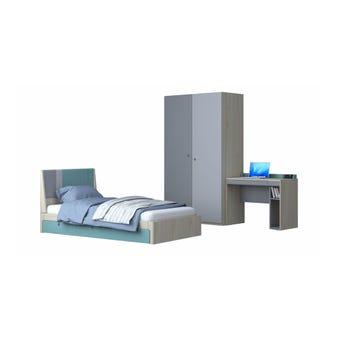 ชุดห้องนอนเด็ก ชุดห้องนอนเด็ก รุ่น Kidzio สีสีโอ๊คอ่อน-SB Design Square