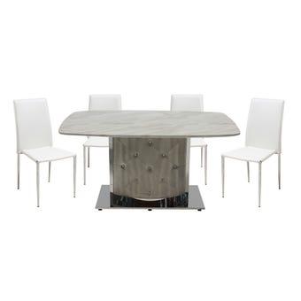 ชุดโต๊ะอาหาร รุ่น Talost & เก้าอี้ รุ่น Yinta
