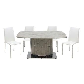ชุดโต๊ะอาหาร รุ่น Aimon & เก้าอี้ รุ่น Yinta-01