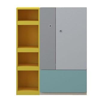 ชุดห้องนอนเด็ก ตู้สูง รุ่น Kidzio สีสีเหลือง-SB Design Square