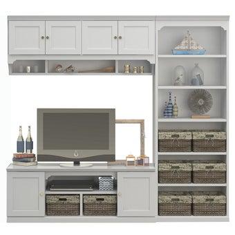 ชุดวางทีวีและตู้โชว์ รุ่น Seaspell สีขาว
