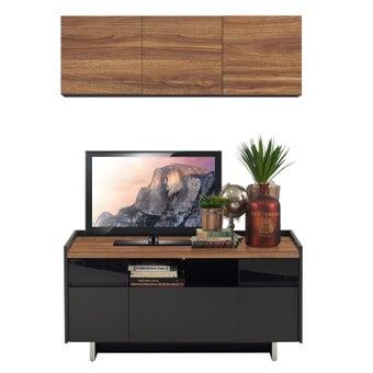 ชุดวางทีวีและตู้โชว์ ขนาด 120 ซม. รุ่น Ralphs สีน้ำตาล-00
