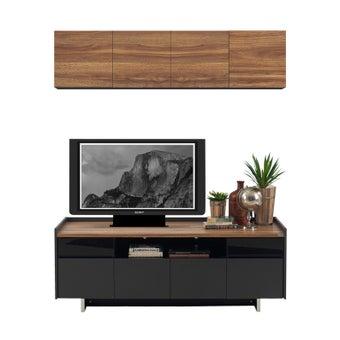 ชุดวางทีวีและตู้โชว์ ขนาด 160 ซม. รุ่น Ralphs สีน้ำตาล-00