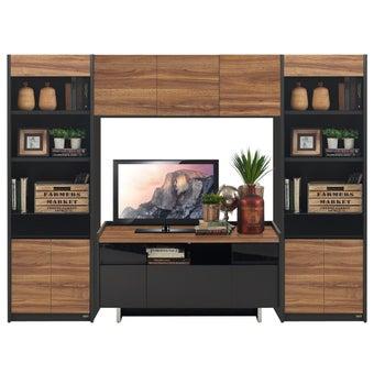 ชุดวางทีวีและตู้โชว์ ขนาด 240 ซม. รุ่น Ralphs สีน้ำตาล-00