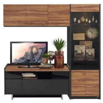 ชุดวางทีวีและตู้โชว์ ขนาด 180 ซม. รุ่น Ralphs สีน้ำตาล-00