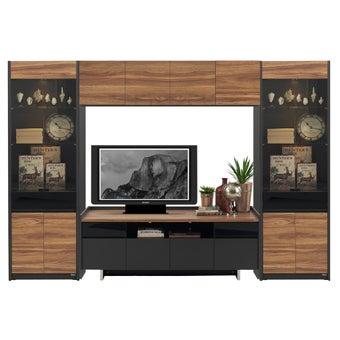 ชุดวางทีวีและตู้โชว์ ขนาดใหญ่กว่า 240 ซม. รุ่น Ralphs สีน้ำตาล-00