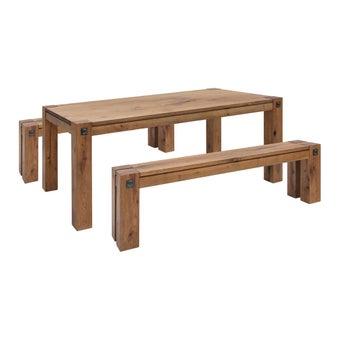 ชุดโต๊ะอาหาร รุ่น Farry สีลายไม้ธรรมชาติ1