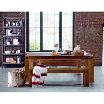 ชุดโต๊ะอาหาร รุ่น Farry สีลายไม้ธรรมชาติ2