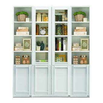 ห้องรับแขก ชุดตู้เก็บของหนังสือ รุ่น Lybrary สีสีขาว-SB Design Square