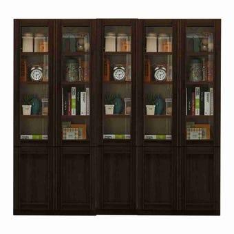 ตู้เก็บของ ชุดตู้เก็บของหนังสือ รุ่น Lybrary สีสีเข้มลายไม้ธรรมชาติ-SB Design Square