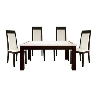 โต๊ะทานอาหาร โต๊ะอาหารขาไม้ท๊อปหิน รุ่น Molizia-SB Design Square