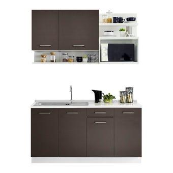 ชุดครัว ชุดครัว Kourmet รุ่น Kourmet สีสีเข้มลายไม้ธรรมชาติ-SB Design Square