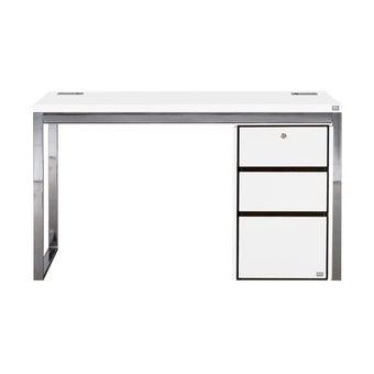 ชุดโต๊ะทำงาน รุ่น Exio สีขาว01