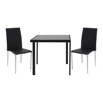 ชุดโต๊ะอาหาร รุ่น Puccini สีดำ-00