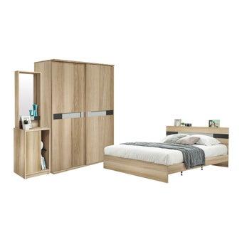 ชุดห้องนอน ชุดห้องนอนขนาด 6 ฟุต รุ่น Harper-SB Design Square