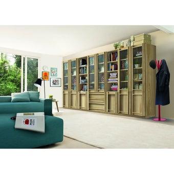 ห้องรับแขก ชุดตู้เก็บของหนังสือ รุ่น Lybrary สีสีโอ๊ค-SB Design Square