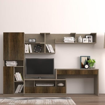 ชุดวางทีวีและตู้โชว์ รุ่น Spazz สีอ่อน01