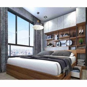 ชุดห้องนอน ชุดห้องนอนขนาด 5 ฟุต รุ่น Bricko สีสีน้ำตาล-SB Design Square