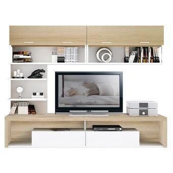 ชุดวางทีวีและตู้โชว์ ขนาด 240 ซม. รุ่น Maximus สีโอ๊ค-00
