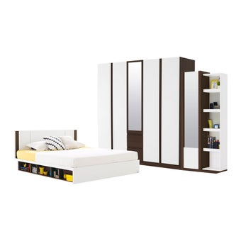 ชุดห้องนอน ขนาด 6 ฟุต รุ่น Patinal สีขาว-00