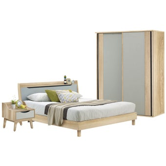 ชุดห้องนอน ขนาด 6 ฟุต รุ่น Backus