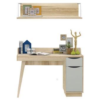 ชุดโต๊ะทำงาน รุ่น Backus & ชั้นแขวน Maximus-01