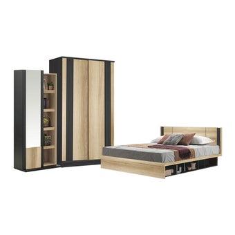 ชุดห้องนอน ขนาด 6 ฟุต รุ่น Patinal สีโอ๊ค