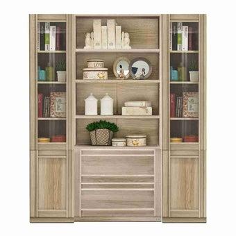 ห้องรับแขก ชุดตู้เก็บของหนังสือ สีสีโอ๊ค-SB Design Square
