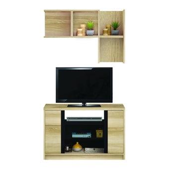 ชุดวางทีวีและตู้โชว์ ขนาด 90 ซม. รุ่น Urbani สีไม้อ่อน01