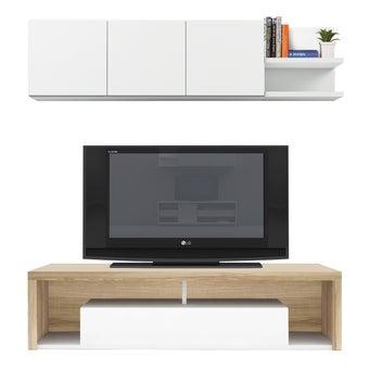 ชุดวางทีวีและตู้โชว์ ขนาด 180 ซม. รุ่น Maximus สีโอ๊ค-00