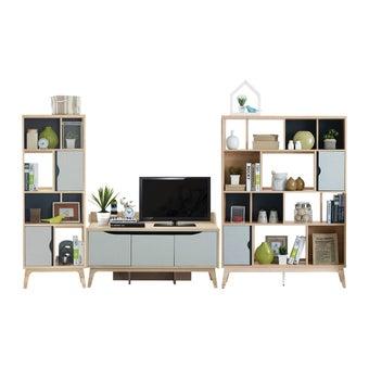 ชุดวางทีวีและตู้โชว์ ขนาด 240 ซม. รุ่น Backus&Bente-01