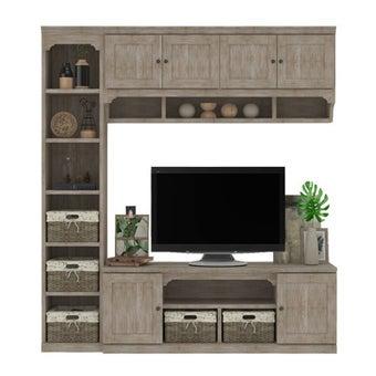 ชุดวางทีวีและตู้โชว์ รุ่น Seaspell Plus สีโอ๊ค2