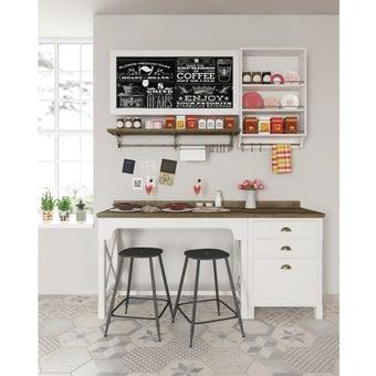 ห้องครัวขนาดกะทัดรัดและครัวสำเร็จรูป รุ่น Croissant สีขาว-00