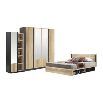 ชุดห้องนอน ขนาด 3.5 ฟุต รุ่น Patinal สีโอ๊ค