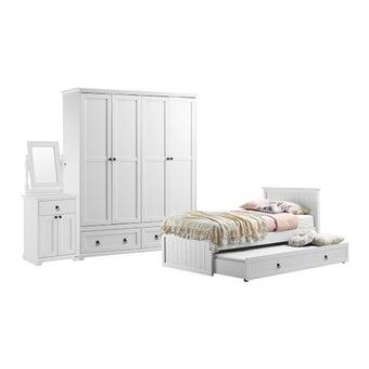 ชุดห้องนอน ชุดห้องนอนขนาด 3.5 ฟุต รุ่น Melona สีสีขาว-SB Design Square