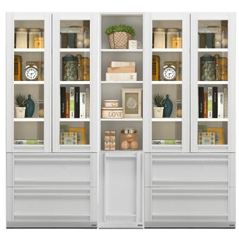 ตู้หนังสือ ขนาด 80 ซม. รุ่น Lybrary สีขาว-00