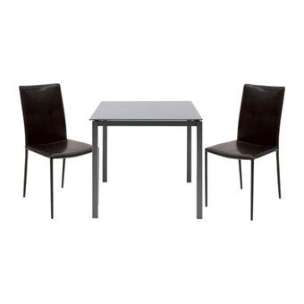 โต๊ะทานอาหาร โต๊ะอาหารขาเหล็กท๊อปกระจก รุ่น Ruber-SB Design Square