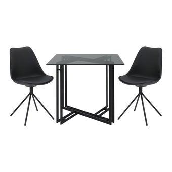 ชุดโต๊ะอาหาร รุ่น Vitola สีดำ-00