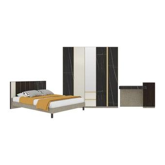 ชุดห้องนอน ชุดห้องนอนขนาด 6 ฟุต รุ่น Aureus สีสีดำ-SB Design Square
