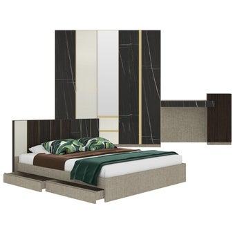 ชุดห้องนอน ขนาด 6 ฟุต รุ่น Aureus สีดำ