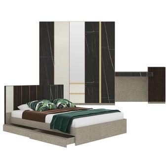 ชุดห้องนอน ขนาด 5 ฟุต รุ่น Aureus สีดำ-00