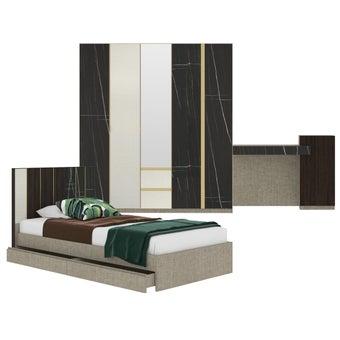 ชุดห้องนอน ขนาด 3.5 ฟุต รุ่น Aureus สีดำ-00