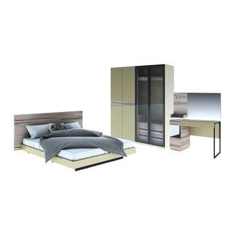 ชุดห้องนอน ชุดห้องนอนขนาด 6 ฟุต รุ่น Verre สีสีอ่อนลายไม้ธรรมชาติ-SB Design Square