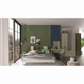 ชุดห้องนอน ชุดห้องนอนขนาด 6 ฟุต รุ่น Estano สีสีเข้มลายไม้ธรรมชาติ-SB Design Square
