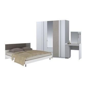 ชุดห้องนอน ชุดห้องนอนขนาด 6 ฟุต รุ่น Econi สีสีขาว-SB Design Square